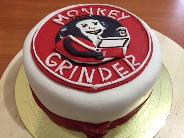 Кто знает кофейню МАНКИ ГРИНДЕР? Вчера для одного из замечательных барменов этого Кафе мы приготовили тортик!