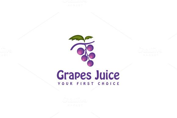 Check out Grapes Juice Logo Template by JigsawLab on Creative Market