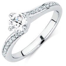 Michael hill-engagement ring with side accents