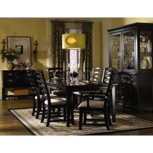 Ashton Black Dining Room Set 565084 Fd Klaussner Furniture Sets Modern 300x300