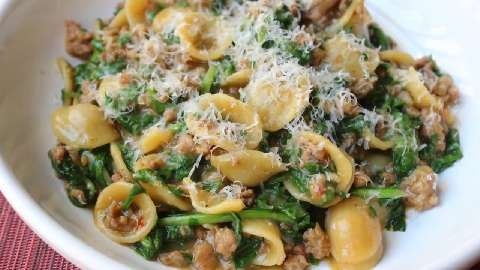 One Pan Orecchiette Pasta with Italian Sausage