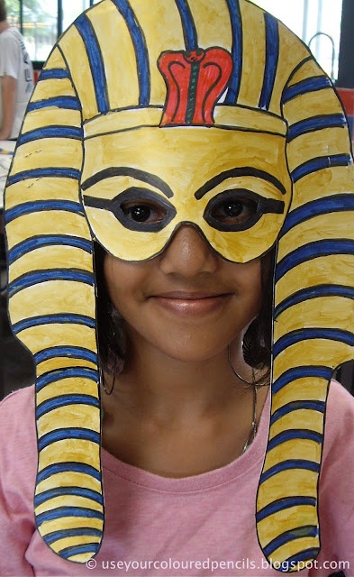 tutankhamun masks; 6th grade ancient egpyt