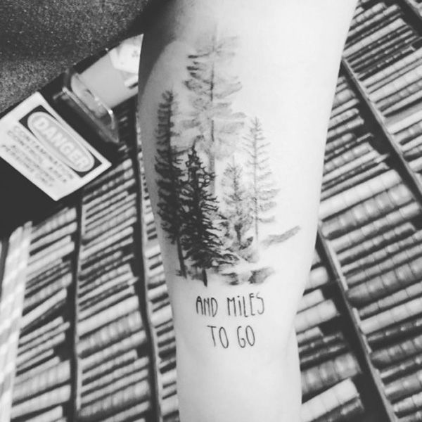 Trees are one of Earth's elements that stay strong no matter what happens. Trees could symbolize you and your journey; that no matter what comes along, you are still standing and walking.