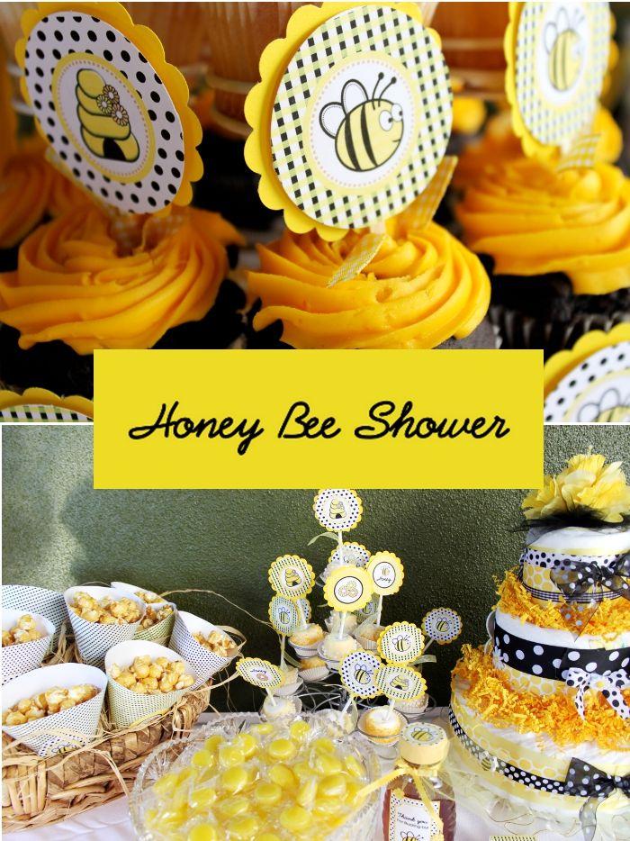 bee: Ideas Baby Showers, Babyshower Ideas, Bee Baby Showers, Baby Shower Themes, Honey Bees, Party Ideas, Bee Shower