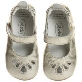 Baby Girls Metallic Gold Leather Shoes