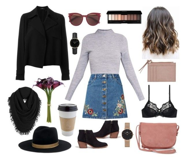 """""""FANCY #cool #girl #outfit"""" by koczuba-anna on Polyvore featuring Miss Selfridge, TOMS, Theory, Madewell, Salvatore Ferragamo, ROSEFIELD, OUTRAGE, Triumph, Janessa Leone and White + Warren"""