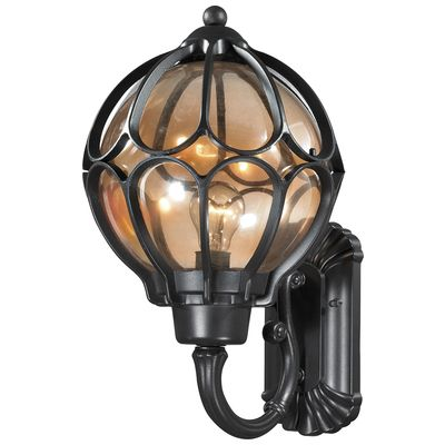 ELK Lighting Madagascar 1 Light Outdoor Sconce In Matte Black 87022/1