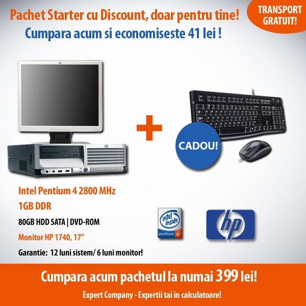 Pachet Starter cu discount, la numai 399 lei + kit tastatura si mouse CADOU! Economiseste 41 de lei cu Expert Company - Expertii tai in calculatoare!