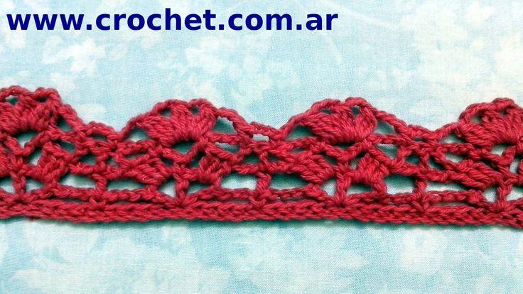 Puntilla N° 19 en tejido crochet tutorial paso a paso.