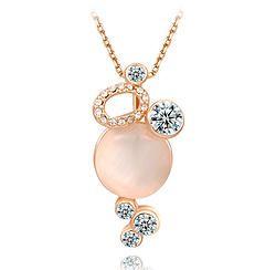 Opal & Gem Pendant Necklace