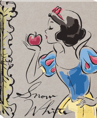 Disney Snow White - Snow White Fashionista Kiss Canvas Stretched Canvas Print at AllPosters.com