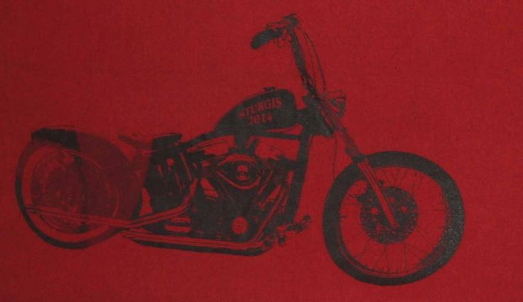 Sturgis, South Dakota 2014 Motocycle Rally T-Shirt Men's Size XL Maroon - Rare #Gildan #GraphicDesignTShirt