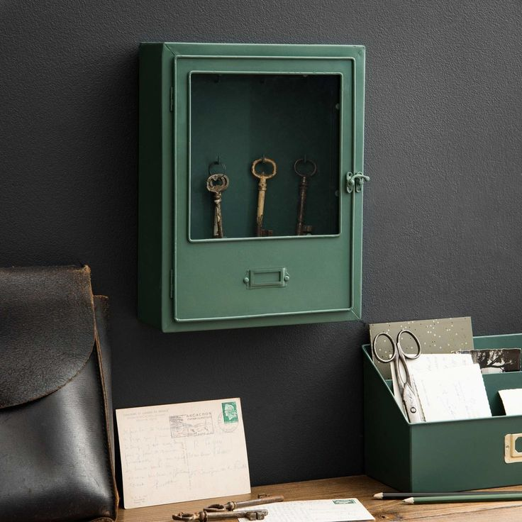 Green Metal Key Box | Maisons du Monde