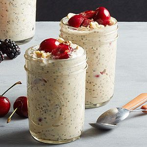 Cherry Java Refrigerator Oatmeal When fresh cherries are in season, don't miss out on your opportunity to indulge in this overnight oats breakfast recipe.