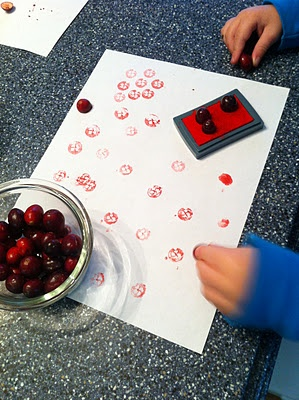 From Play Create Explore - Cranberry stamping - and you can work