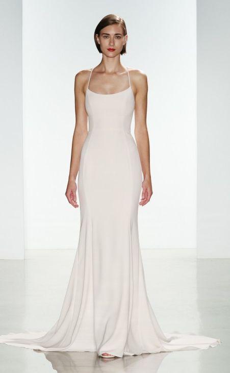 Featured Dress: Amsale; Wedding dress idea.