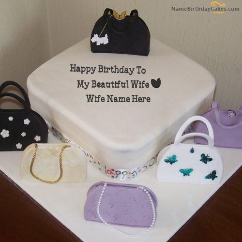 17 best Name Birthday Cakes For Wife images on Pinterest Happy