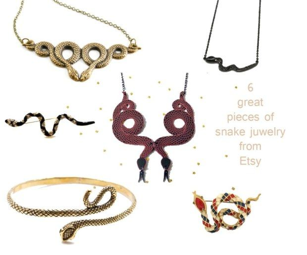 6 great pieces of snake juwelry selection made by DANCERS ROAD