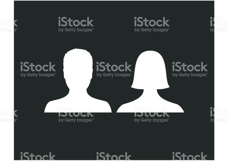 Default male and female avatar profile picture icon. Man and woman photo placeholder royalty-free stock vector art