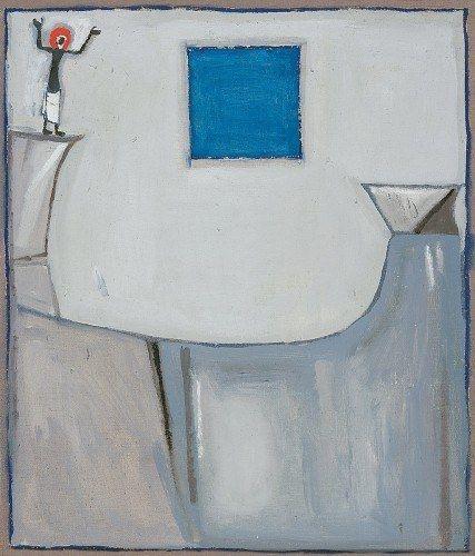 Jerzy Nowosielski Prorok na skale | 1958, olej-płótno, 50 × 43 cm, fot.: Galeria Starmach