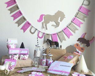 Zu einem Pferdegeburtstag gehört das richtige Dekorationsmaterial, aber auch tolle Pferdeparty Motto Spiele! All dieses findest du ab sofort im Limmaland Shop! So wird der Pferde Kindergeburtstag zum Erfolg! // horse birthday party ideas and decoration www.limmaland.com