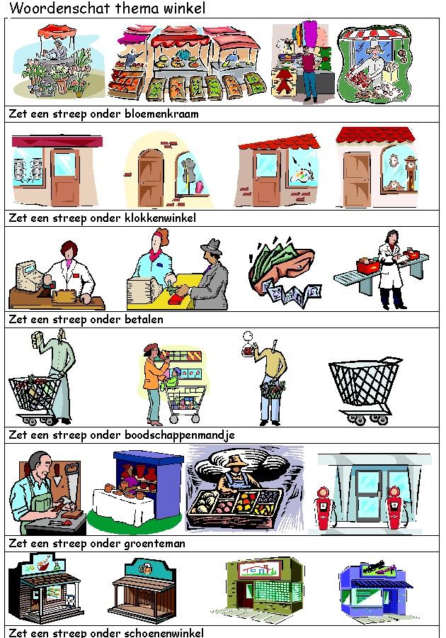 Projectpagina's: de winkel