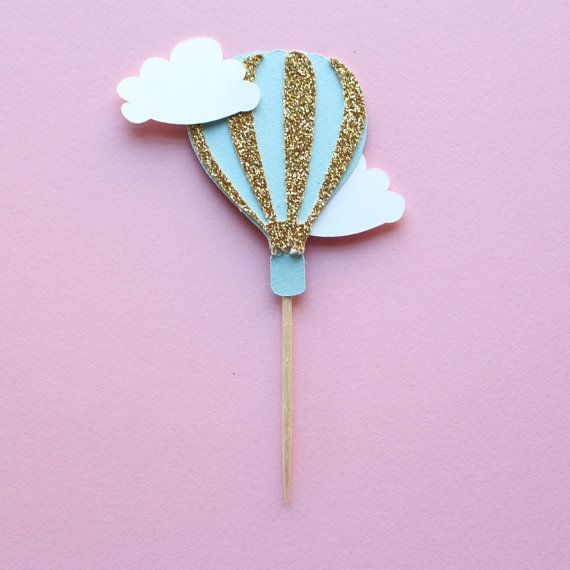 Cupcake Toppers Hot Air Balloon Cupcake Toppers Up by PoshSoiree