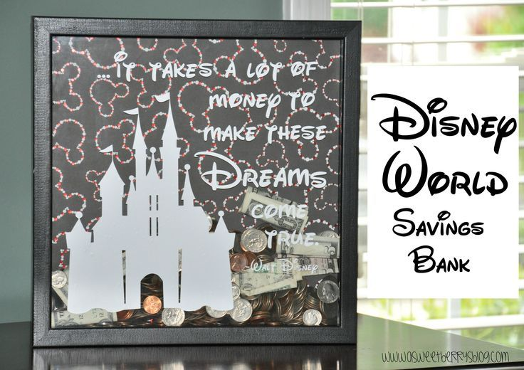 Disney World Savings Bank Disney geschenk, Disney diy