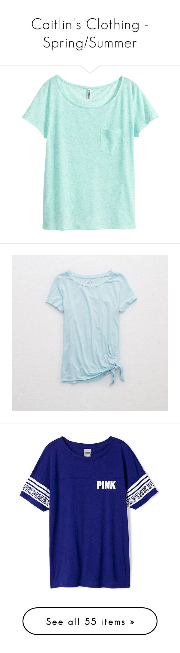 """""""Caitlin's Clothing - Spring/Summer"""" by babybutter-stories ❤ liked on Polyvore featuring thecallowayfamily, tops, t-shirts, shirts, blusas, mint green, short sleeve shirts, mint shirts, mint green t shirt and t shirt"""