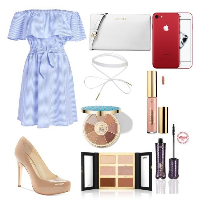 f a n c y by harperbrayy on Polyvore featuring polyvore fashion style Jessica Simpson Michael Kors tarte clothing