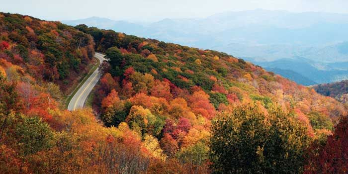 Cherohala Skyway - 43 mile scenic road that connects Robbinsville, NC to the tiny town of Tellico Plains, Tennessee.