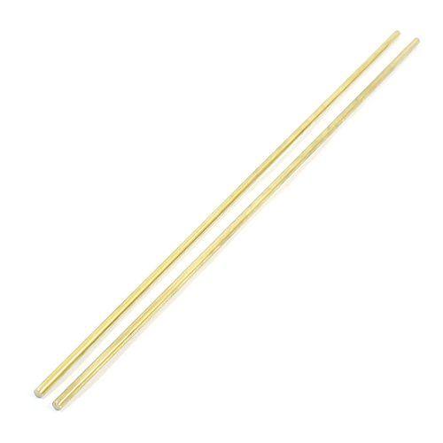 2Pcs Gold Tone Brass 250mm x 3mm Round Rod Stock for CNC Lathe Machine #Gold #Tone #Brass #Round #Stock #Lathe #Machine