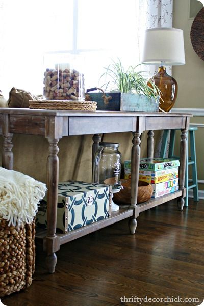 everett foyer table from world market......love this table...Thrifty Decor Chick blog