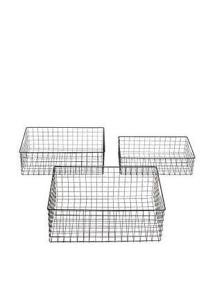 39% OFF Set of 3 Wire Baskets