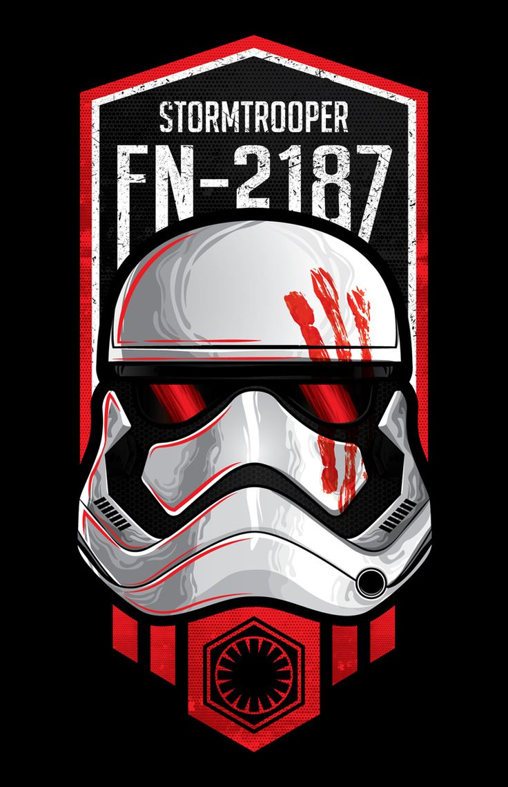 Diseño Inspirado en el Stormtropper FN-2187 de la Película StarWars The Force Awakens