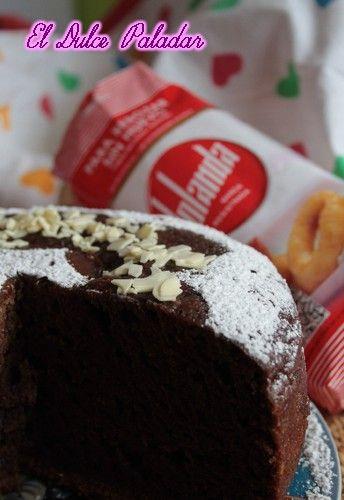 El dulce paladar: Bizcocho esponjoso de chocolate sin huevo