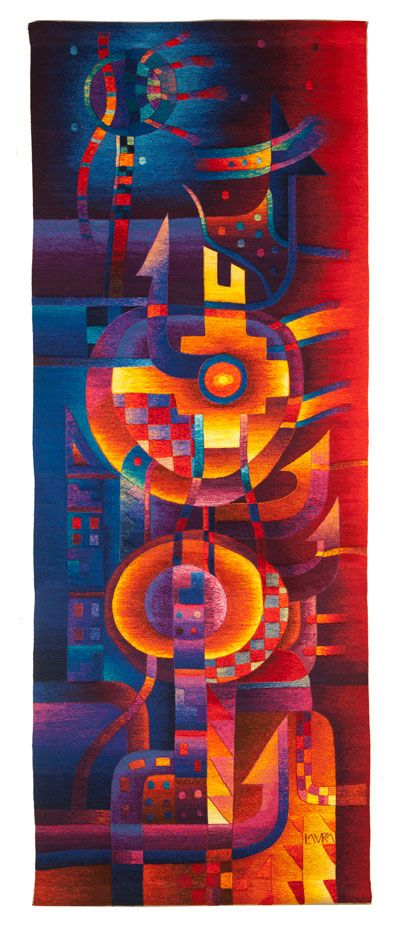 """Full Moon"" Contemporary Peruvian Tapestry by Maximo Laura"