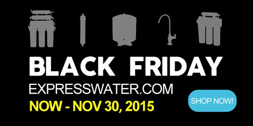 We're excited to Announce our Black Friday Specials, ONLY for a LIMITED Time (now until November 30th) - you'll find some items you will love... View the Latest Deals on a 5 Stage Home Drinking Reverse Osmosis System, Alkaline System Replacement Filter Sets, Gallon Reverse Osmosis RO Water Storage Tank, a MODERN Ceramic Disc Designer Faucet, and much more! Check out our Express Water Early Access Black Friday Specials, http://www.expresswater.com/collections/specials