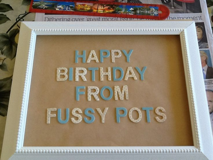 Birthday Greetings  from Fussypots Childrens Parties.