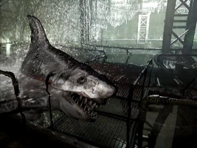 Resident Evil remake neptune, this sharks where a pain in the ass, the music combined with this monsters was realy scary
