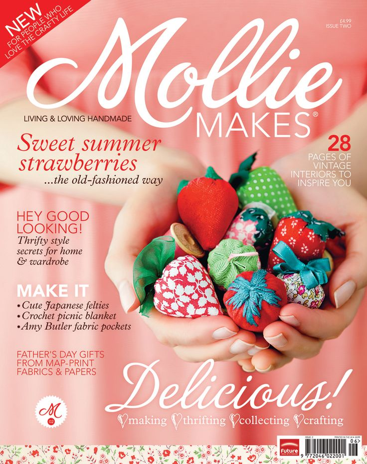Download Mollie Makes issue 2 project templates now