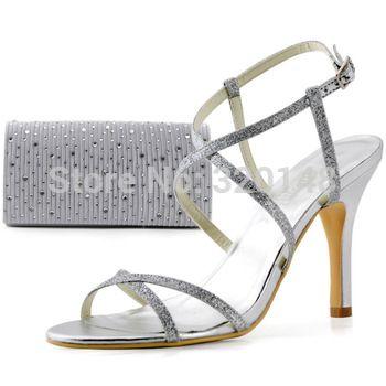 Frete grátis HP1520 dedo aberto tornozelo strass cetim sandálias de festa jogo bolsa das mulheres