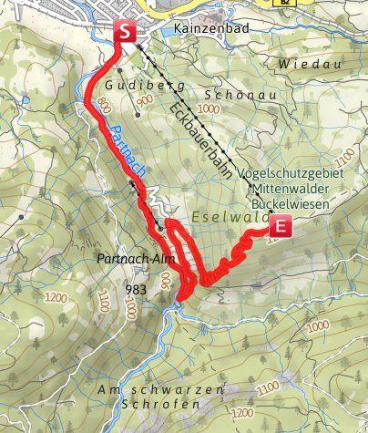 Karte / TCW 05b: Partnachklamm - Eckbauer ... Tour umdrehen!
