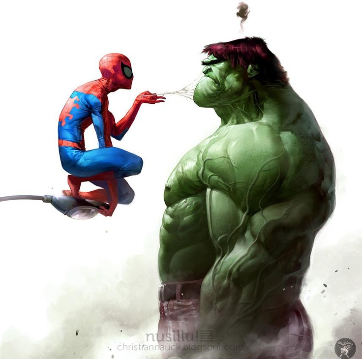 Spiderman Meets The Incredible Hulk!