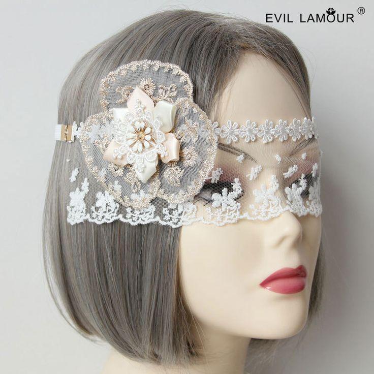 Принцесса сладкий лолита маска COS белого кружева невесты белый шелк бутона крытая лица Туман veil крытая маска крышка МЮ-15 обращение
