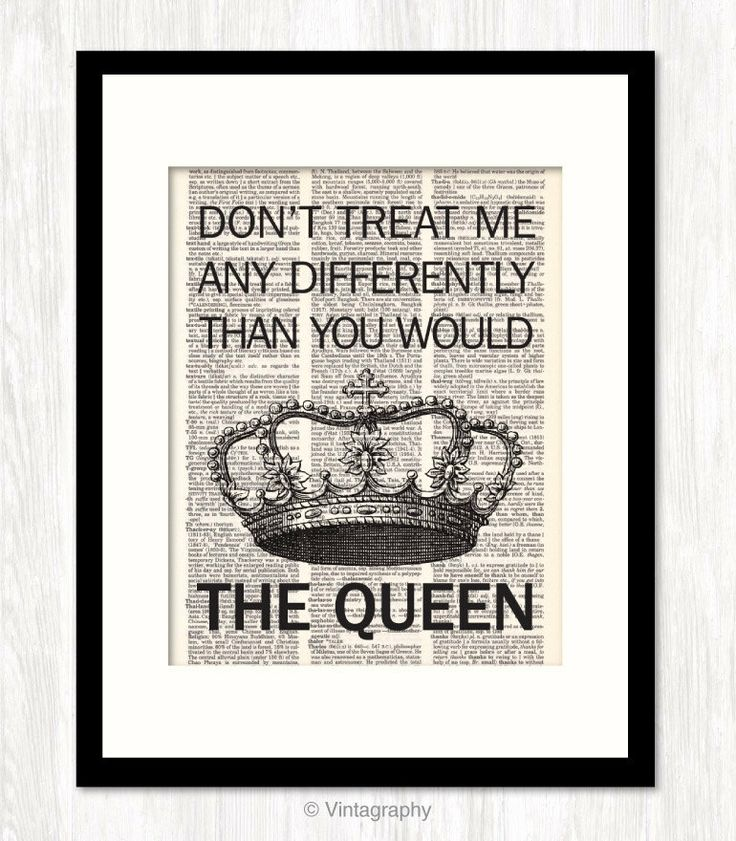 funny quote dictionary art TREAT Me LIKE a QUEEN typographic print ...