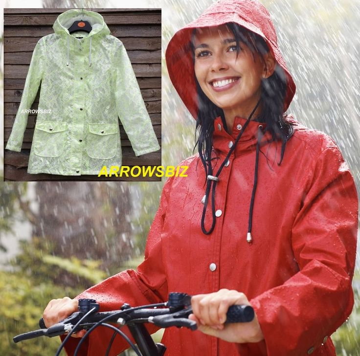 Ladies Rain Mac Parka Shower Festival Raincoat Rainwear Waterproof Size 6 - 20 #Atmosphere #Raincoats #Outdoor