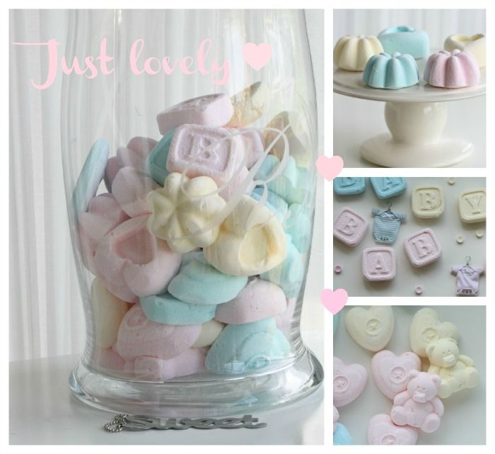 Cute pastel Homemade Marshmallows * What a great idea to use for weddings, showers, parties, and more!