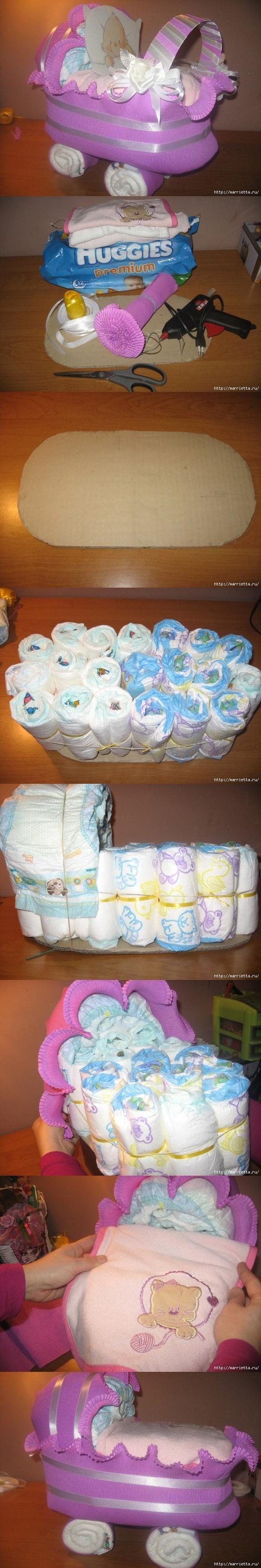 DIY Diaper Newborn Carrier