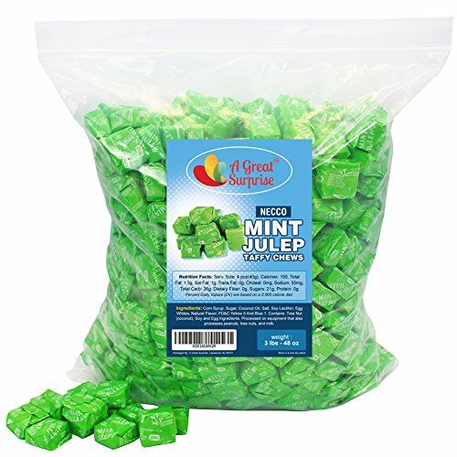 Mint Juleps - Necco Candy - Taffy Chews, 3 LB Bulk Candy ... https://www.amazon.com/dp/B01K7YIJVU/ref=cm_sw_r_pi_dp_x_toP9yb3A8AFS2